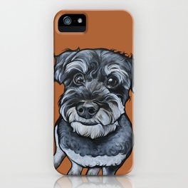 Frankie the Schnoodle iPhone Case
