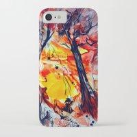 sunrise iPhone & iPod Cases featuring SunRise by ART de Luna