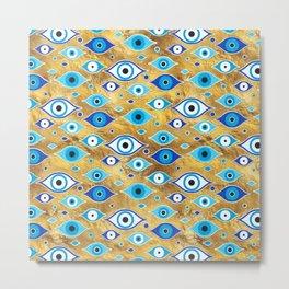 Greek Mati Mataki - Matiasma Evil Eye pattern Metal Print