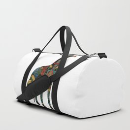greyhound white Duffle Bag