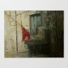 Little painting - Red Flag Canvas Print