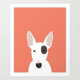 Bull Terrier cute puppy dog art print pet gift pets dog breed animal children kids illustration  Art Print