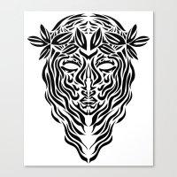 virgo Canvas Prints featuring Virgo by Mario Sayavedra