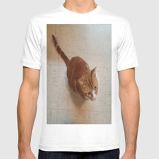 MORRIS ON THE WALL Mens Fitted Tee White MEDIUM