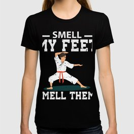 Smell My Feet Combat Sport Funny Karate T-shirt