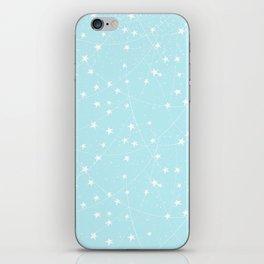 Merry Christmas- Teal Festive Stars X-Mas Pattern iPhone Skin