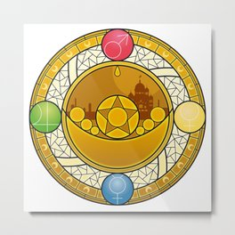Sailor Moon Crystal stained glass window Transformation Brooch Metal Print