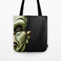 frankenstein Tote Bags featuring Frankenstein by Sergio Bastidas