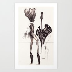 Francesco Scognamiglio, Philip Treacy, Malcolm Edwards and Noritaka Tatehana. (And Emma the Keytar) Art Print