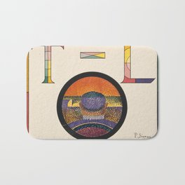 Application of Charles Henry's Chromatic Circle Bath Mat