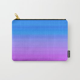 Blue Purple Gradient Stripes Carry-All Pouch