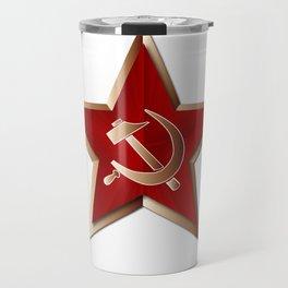 Soviet Badge Insigni Travel Mug