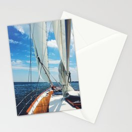 Sweet Sailing - Sailboat on the Chesapeake Bay in Annapolis, Maryland Stationery Cards
