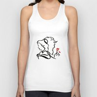 beauty and the beast Tank Tops featuring Beauty and The Beast by Raisya