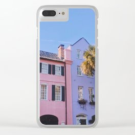 Rainbow Row in Charleston Clear iPhone Case