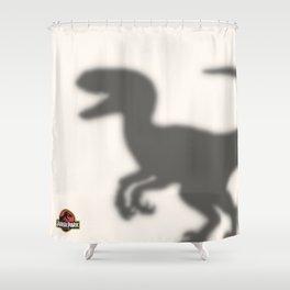 Dinosaur in the shower Shower Curtain