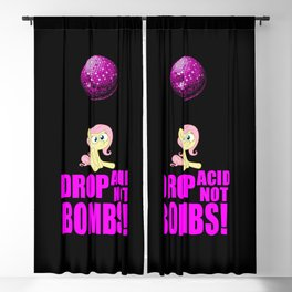 Drop acid not bombs funny quote Blackout Curtain