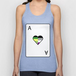 Aro-Ace of Hearts | Playing Card Unisex Tank Top