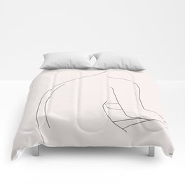 Nude figure illustration - Molly I Comforters