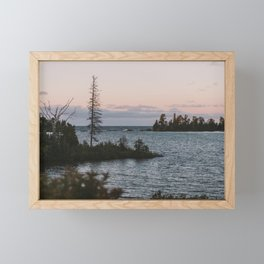 The View From Copper Harbor Framed Mini Art Print