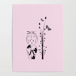 Cute Little Geisha Poster
