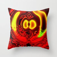 scuba Throw Pillows featuring Scuba by otorography