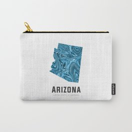 Arizona - State Map Art - Abstract Map - Blue Carry-All Pouch
