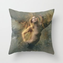 FEATHER FROM THEIR WING Throw Pillow