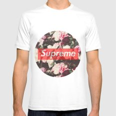 Supreme Circle  Mens Fitted Tee White SMALL