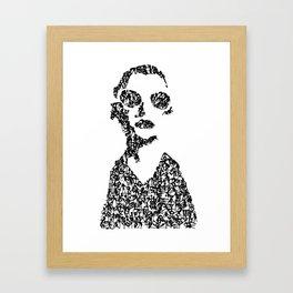 Kanji Calligraphy Art :woman's face #18 Framed Art Print