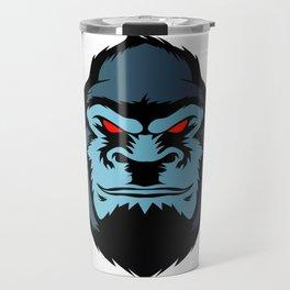 blue gorilla head Travel Mug