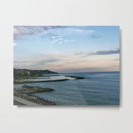 Cool Seaside Sunset Metal Print