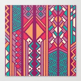 Tribal ethnic geometric pattern 001 Canvas Print