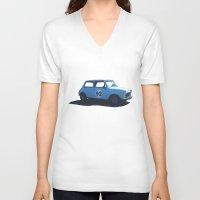 mini V-neck T-shirts featuring Mini by kerilovesmigs