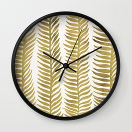 Golden Seaweed Wall Clock