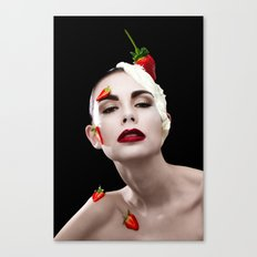Strawberries & Cream Canvas Print