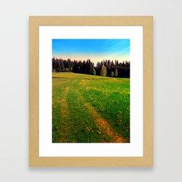 Outdoors in sunny spring Framed Art Print