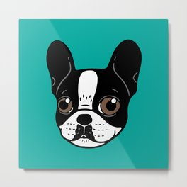 Double Hooded Pied French Bulldog Puppy Metal Print