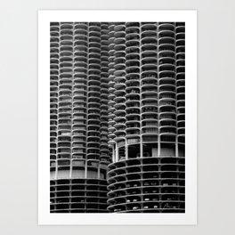 Chicago Marina City Art Print