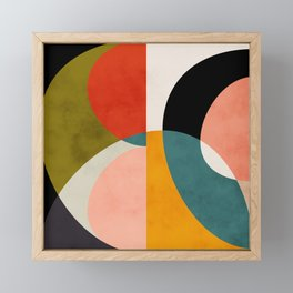 geometry shapes 3 Framed Mini Art Print