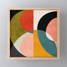 geometry shapes 3 Framed Mini Art Print