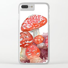 Mushroom castle Clear iPhone Case
