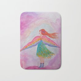 Rainbow Wings Bath Mat