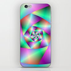 Spiral in Turquoise and Pink iPhone & iPod Skin
