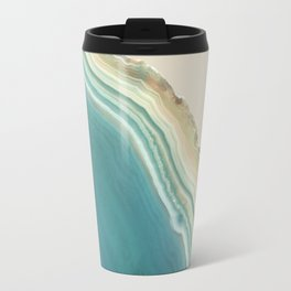 Geode Turquoise + Cream Travel Mug
