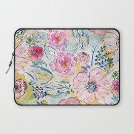 Watercolor hand paint floral design Laptop Sleeve