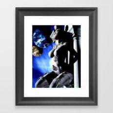 Moon Gazing Framed Art Print