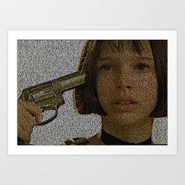 Text Portrait of Mathilda with full script of the movie Leon Art Print