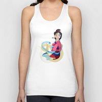 mulan Tank Tops featuring Mulan: Reflection by Minette Wasserman