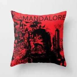 Boba Fett Red Throw Pillow